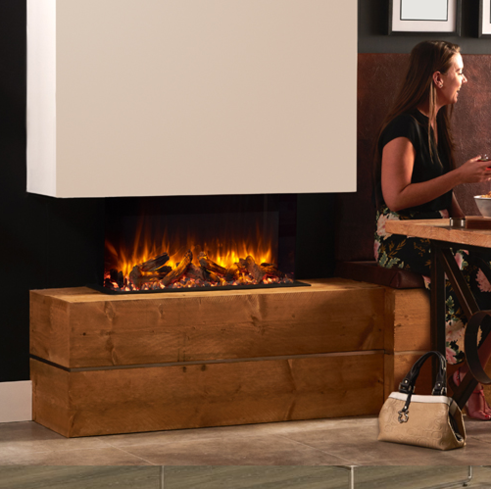 Outstanding Gazco Skope 70W Feature Wall Electric Three Sided Electric Fireplace Log Effect Remote Control 2 Kw Built In Electric Fire 700Mm By 350Mm Viewing Download Free Architecture Designs Rallybritishbridgeorg
